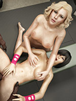 Toon girl betty rubble gets hes ass hole reemed out hard by huge cock.